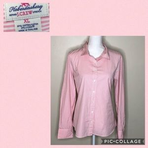 Haberdashery by J. Crew pink striped shirt
